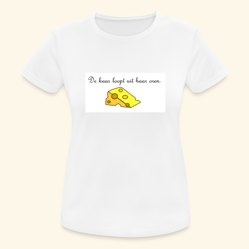 Kaas loopt uit haar oren - Temptation - vrouwen T-shirt ademend