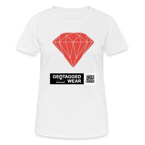 Unisex Diamond Pantone Cherry Tomato - Frauen T-Shirt atmungsaktiv