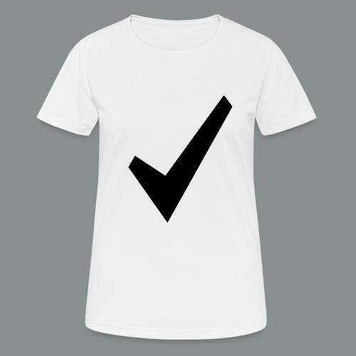 spunta nera - Maglietta da donna traspirante