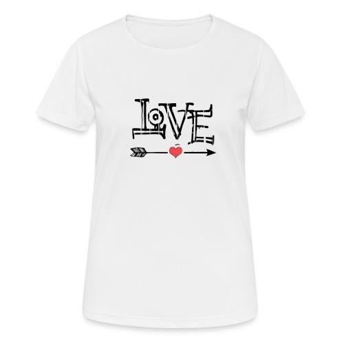 Love flêche - T-shirt respirant Femme
