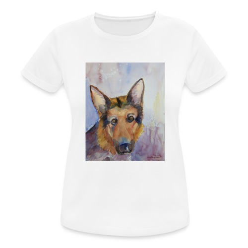 german shepherd wc - Dame T-shirt svedtransporterende