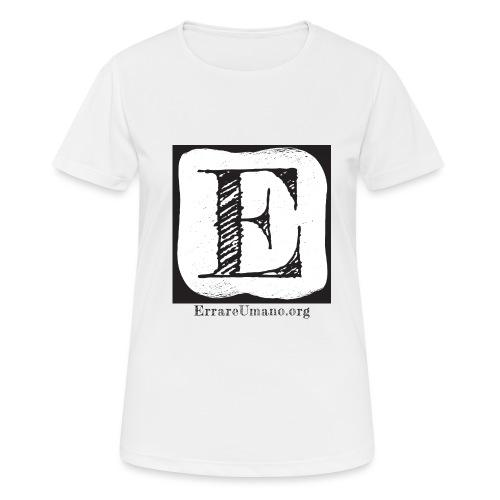 Logo ErrareUmano (scritta nera) - Maglietta da donna traspirante