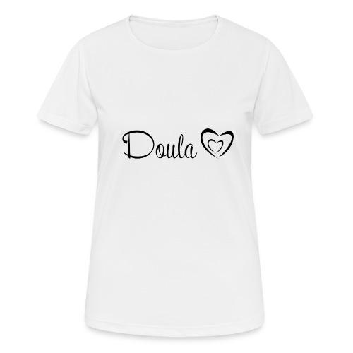 doula sydämet - naisten tekninen t-paita