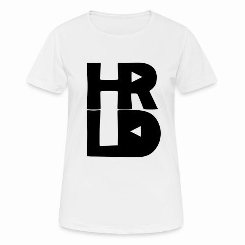 HRLD Black Logo - naisten tekninen t-paita