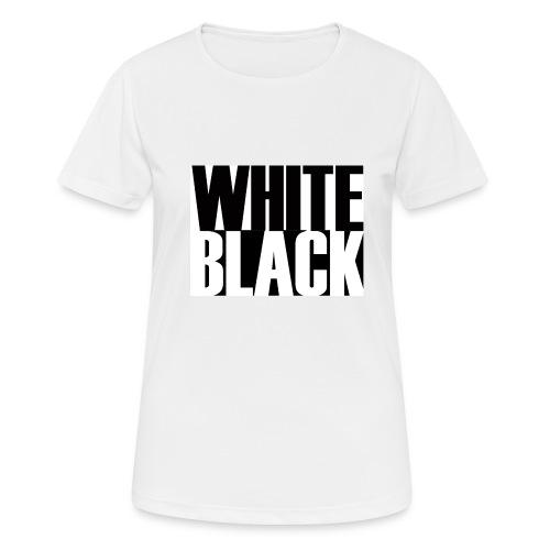 White, Black T-shirt - vrouwen T-shirt ademend