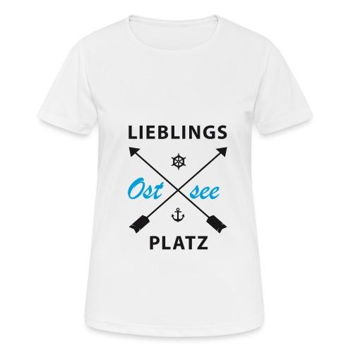 Lieblingsplatz Ostsee - Frauen T-Shirt atmungsaktiv