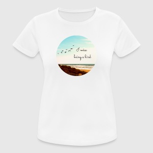 I miss being a bird (Kreis) - Frauen T-Shirt atmungsaktiv