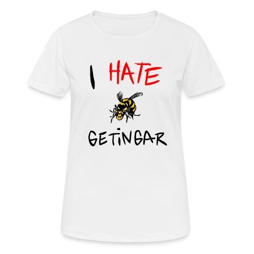 I hate getingar - Andningsaktiv T-shirt dam