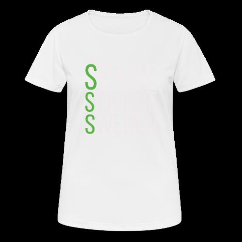 Space Science Sweden - vit - Andningsaktiv T-shirt dam