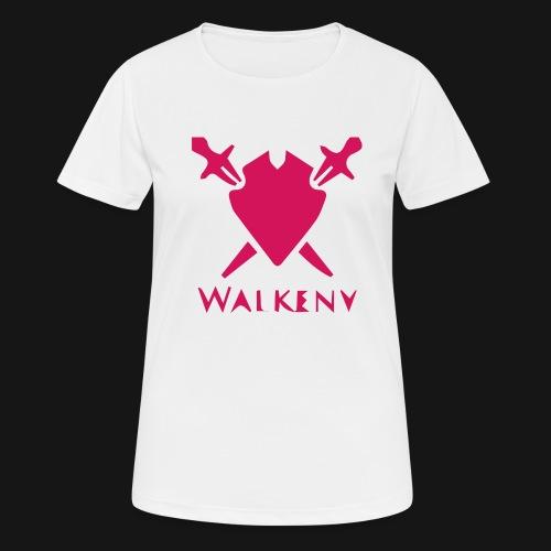 Das Walkeny Logo mit dem Schwert in PINK! - Frauen T-Shirt atmungsaktiv
