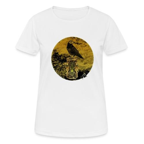 'Memento Mori', round w. logo by BlackenedMoonArts - Dame T-shirt svedtransporterende