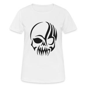 tribals skull - Frauen T-Shirt atmungsaktiv