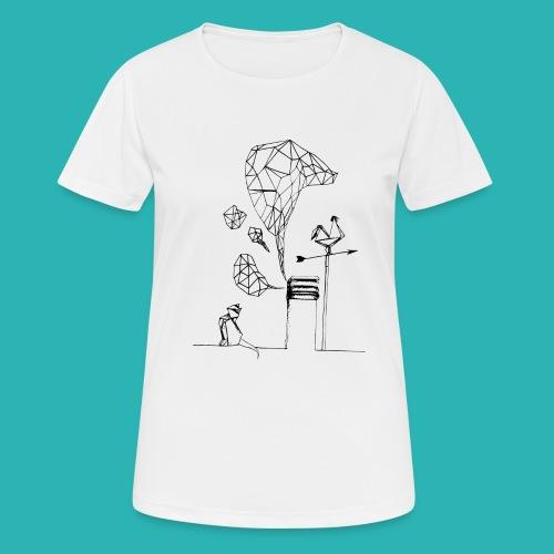 Carta_gatta-png - Maglietta da donna traspirante