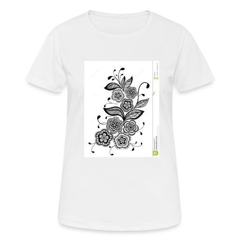 diseño de flores - Camiseta mujer transpirable