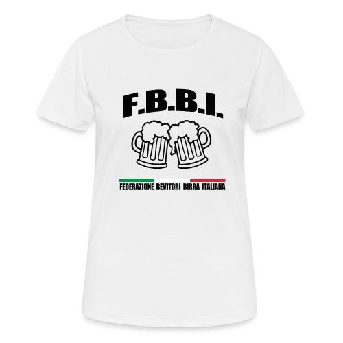 FBBI LOGO NERO - Maglietta da donna traspirante