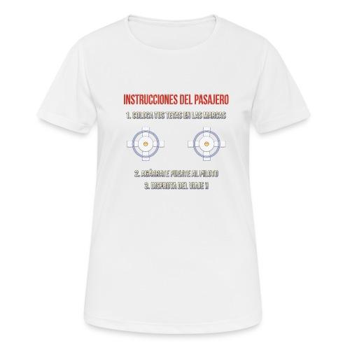 Instrucciones Pasajero - Camiseta mujer transpirable