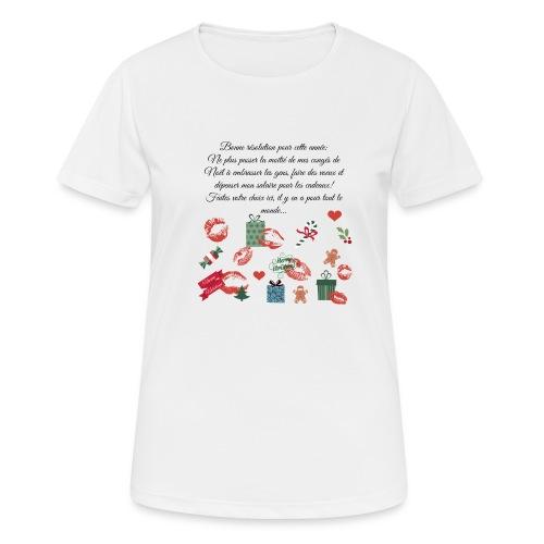 Bonne resolution Noël Nouvel An - T-shirt respirant Femme