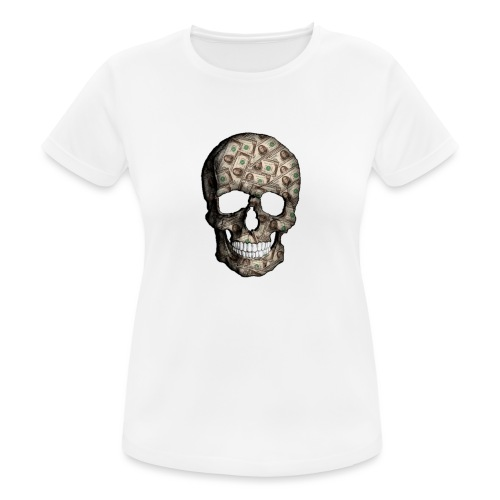 Skull Money Black - Camiseta mujer transpirable