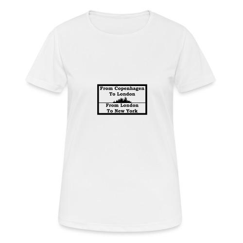From Copenhagen To London - Dame T-shirt svedtransporterende