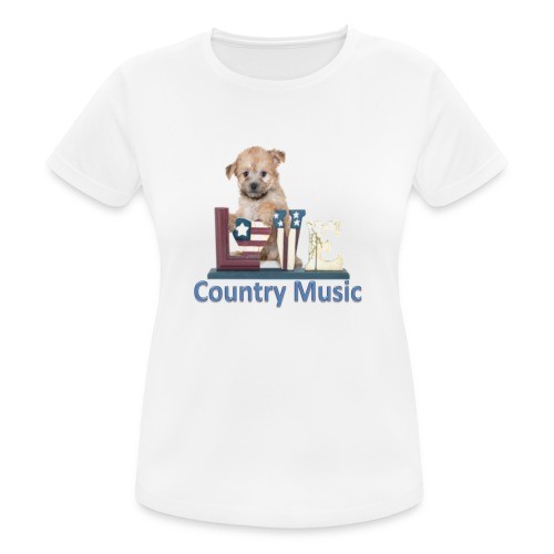 countrydog-png - Maglietta da donna traspirante