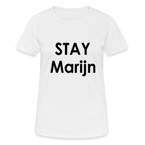 stay marijn black - Vrouwen T-shirt ademend actief