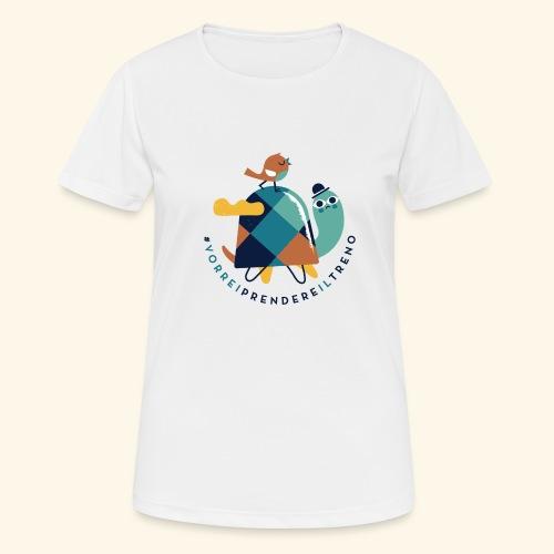 Tartaruga e uccellino - Maglietta da donna traspirante