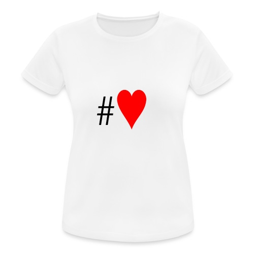 Hashtag Heart - Women's Breathable T-Shirt