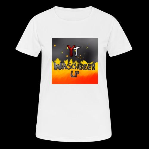 Waschbeer Design 2# Mit Flammen - Frauen T-Shirt atmungsaktiv