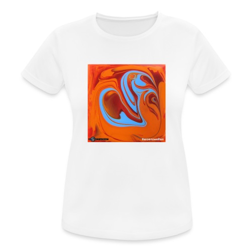 TIAN GREEN Mosaik DK005 - Herzenswelten - Frauen T-Shirt atmungsaktiv