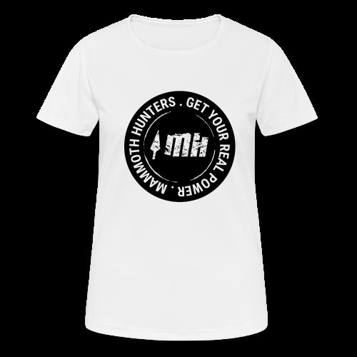 Mammoth Hunters / Círculo completo negro - Camiseta mujer transpirable