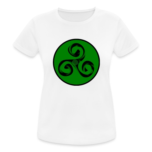 Triskel and Spiral - Camiseta mujer transpirable