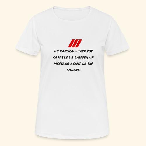 caporal chef - T-shirt respirant Femme