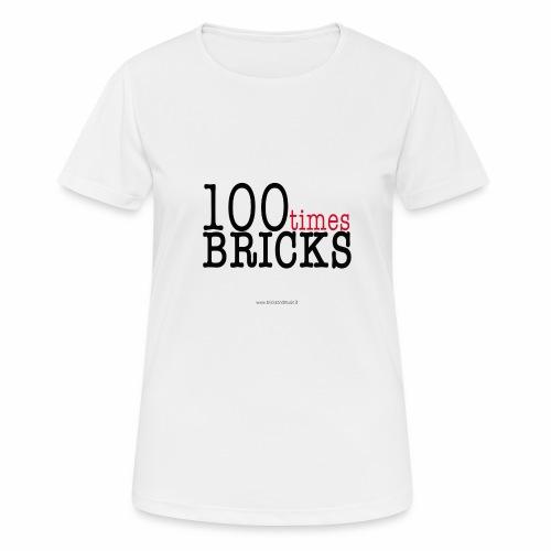 100times BRICKS - Maglietta da donna traspirante