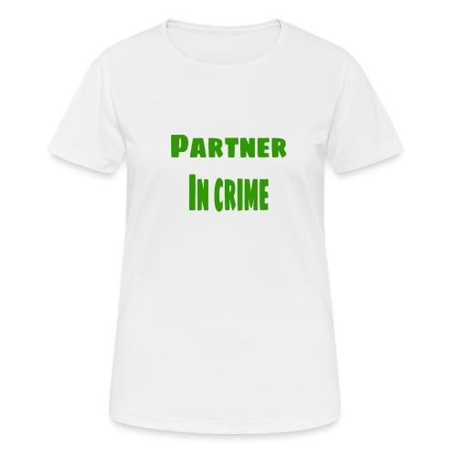 Partner in crime green - Andningsaktiv T-shirt dam