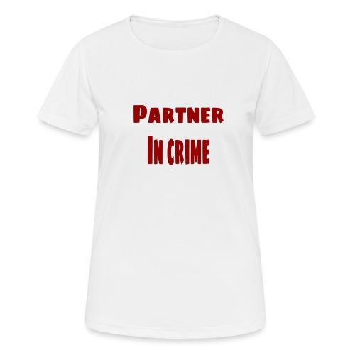 Partner in crime red - Andningsaktiv T-shirt dam