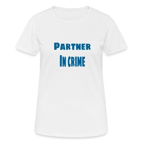 Partner in crime blue - Andningsaktiv T-shirt dam