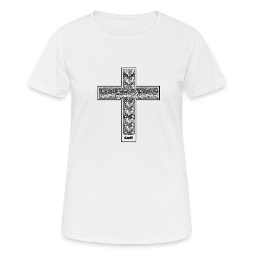 Jesus cross. I'm no longer a slave to fear. - Women's Breathable T-Shirt