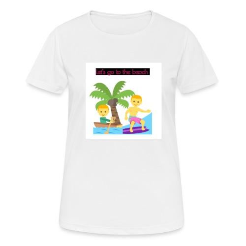 beach - Andningsaktiv T-shirt dam