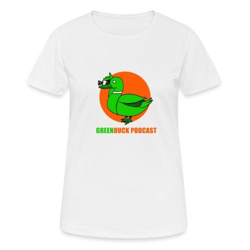 Greenduck Podcast Logo - Dame T-shirt svedtransporterende
