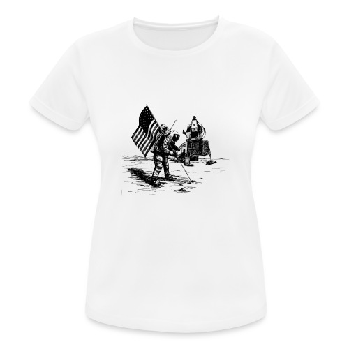 Grey Spaceman - vrouwen T-shirt ademend