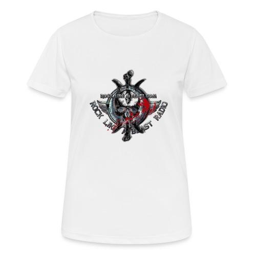 Blood Skull Logo - Andningsaktiv T-shirt dam