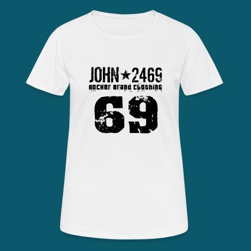 john 2469 numero trasp per spread nero PNG - Maglietta da donna traspirante
