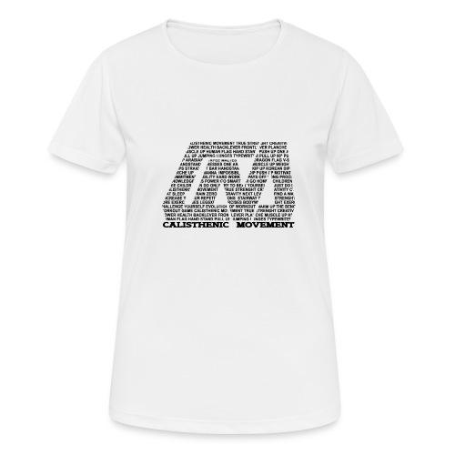 CM Logo aus Text schwarz - Frauen T-Shirt atmungsaktiv