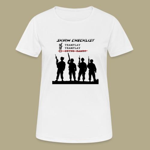 Skirm Checklist - Vrouwen T-shirt ademend actief