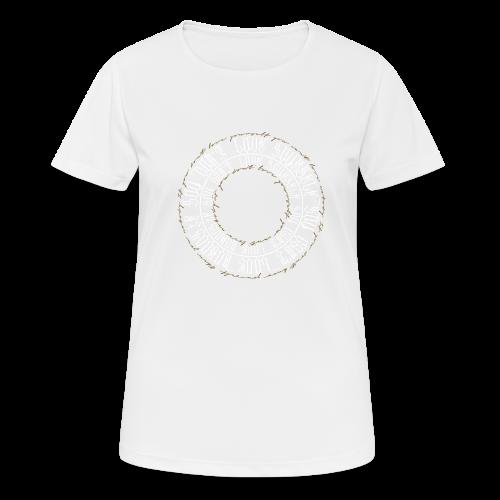 calligrafia white gold - Maglietta da donna traspirante