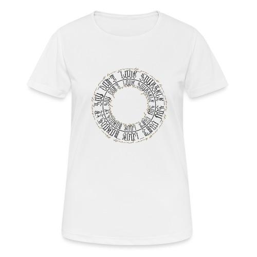 CALLIGRAPHY-CIRCLE - Maglietta da donna traspirante
