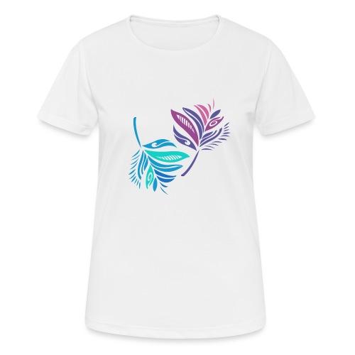 foglie geometriche - Maglietta da donna traspirante