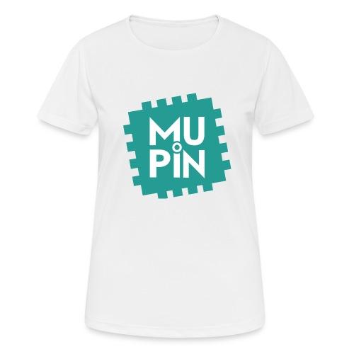 Logo Mupin quadrato - Maglietta da donna traspirante