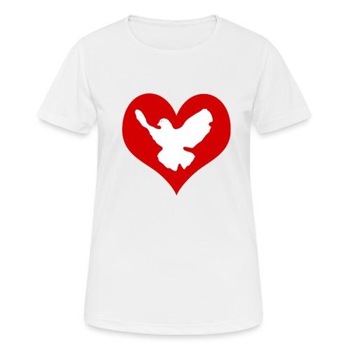 Peace & Love - Frauen T-Shirt atmungsaktiv