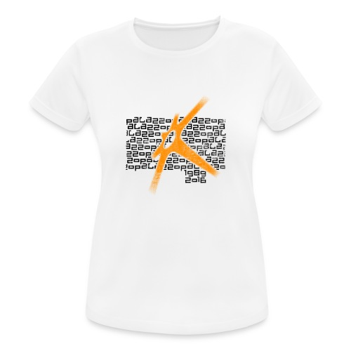 Palazzo Textblock auf weiss/on white - Frauen T-Shirt atmungsaktiv